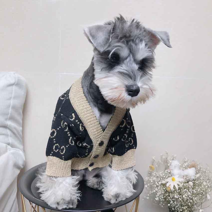グッチ 犬ニットセーター 暖かい 洋服