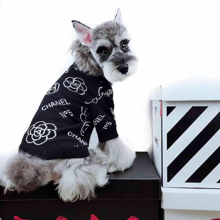 CHANEL 犬服 ニットコート